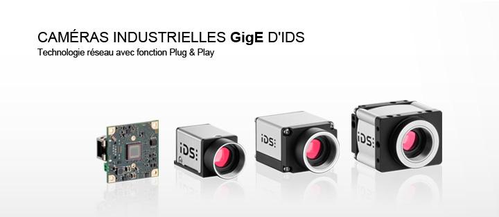 ---IDS caméra GigE uEye, caméra gigabit ethernet, variantes de boîtiers ou de cartes, caméra CMOS