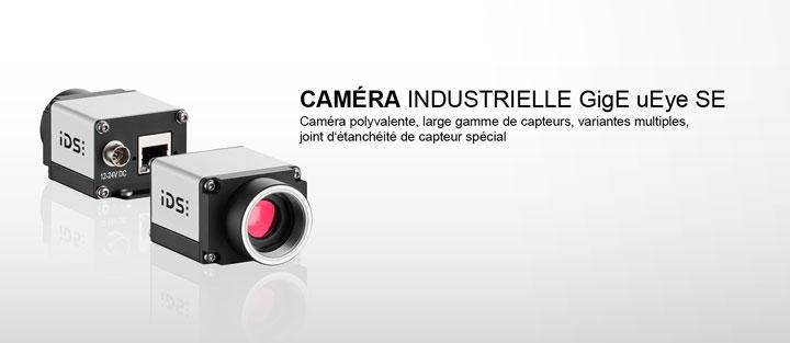 ---IDS caméra industrielle GigE uEye SE, ethernet avec mémoire d'image interne de 60 MB