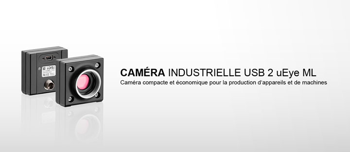---IDS caméra industrielle USB 2 uEye ML en version monochrome, couleur ou NIR