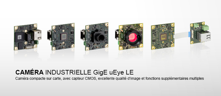 ---IDS caméra industrielle GigE uEye LE, compacte sur carte avec capteurs CMOS