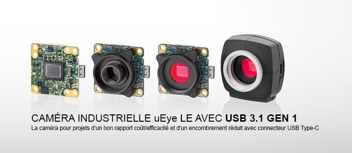 ---uEye LE USB 3.1 Gen 1 - Caméras USB 3.1 Gen 1 avec connecteur USB Type-C et USB Power Delivery