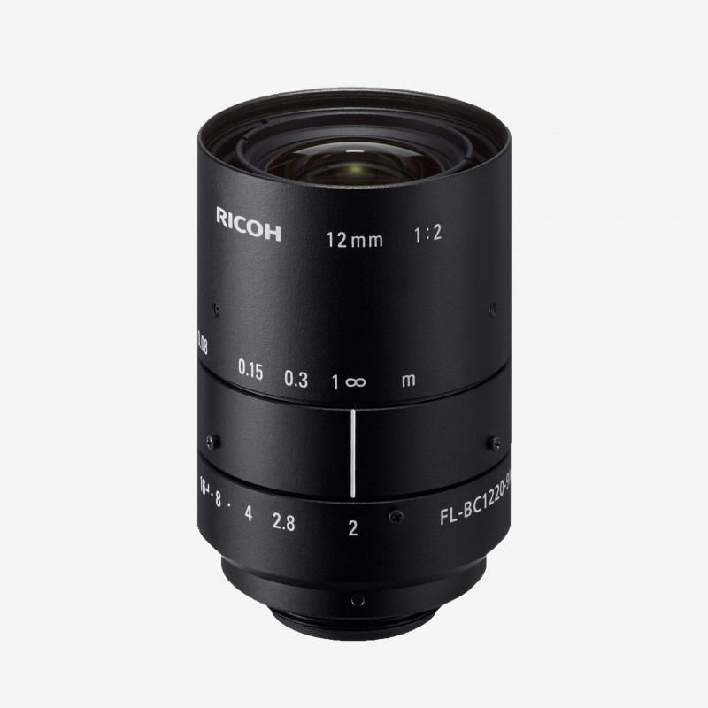 "Objectif, RICOH, FL-BC1220-9M, 12 mm, 1"""