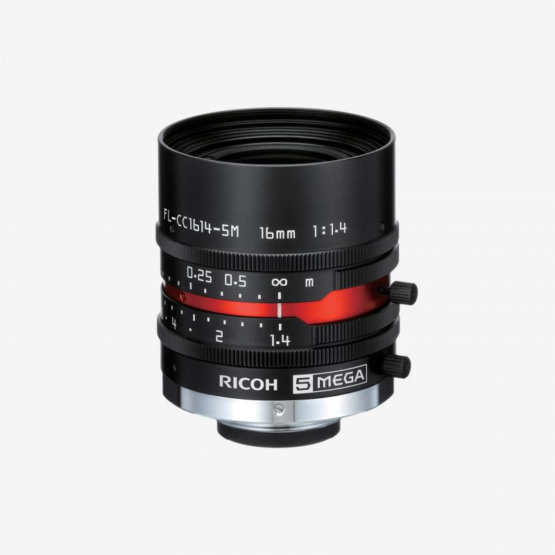 "Objectif, RICOH, FL-CC1614-5M, 16 mm, 2/3"""